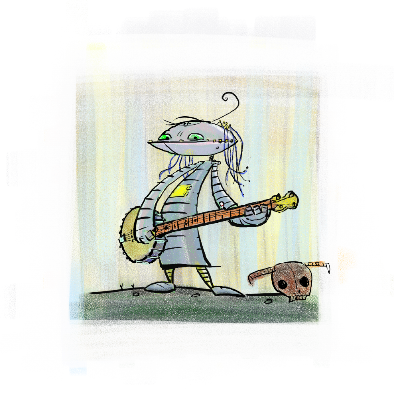 Robot banjo player