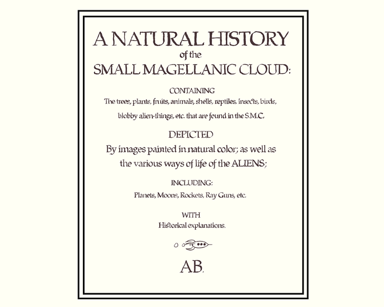 A natural history of the small magellanic cloud, title page
